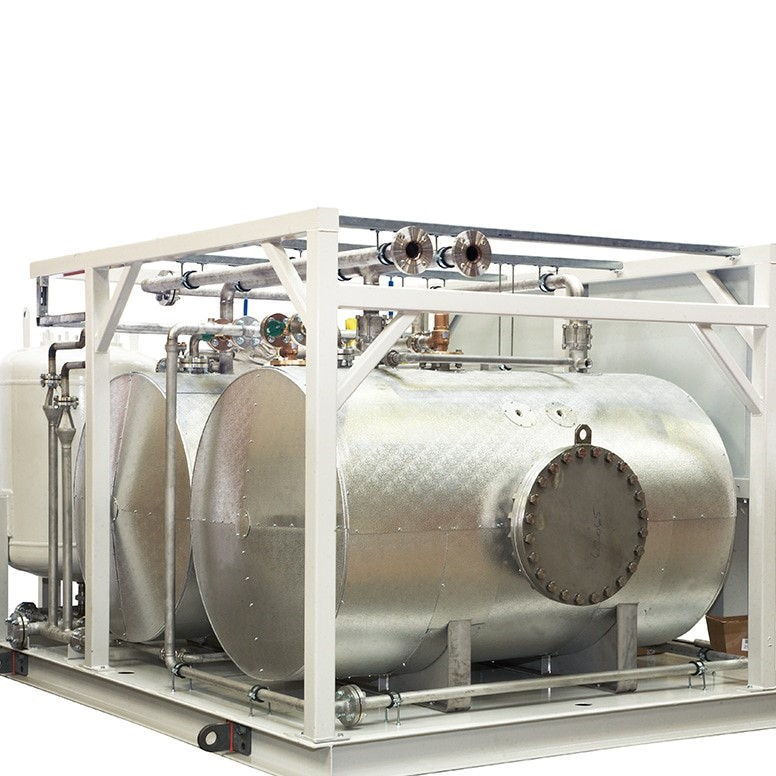 STAINLESS STEEL CALORIFIERS WITH BUFFER VESSELS